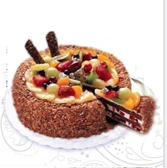send Chocolate fruit cake to