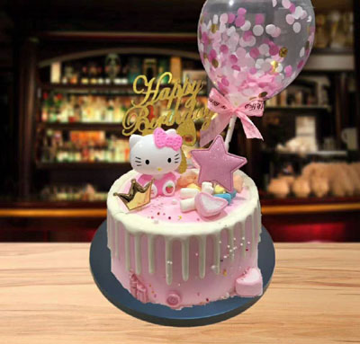 send Kitty cake to tianjin