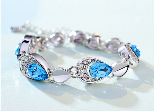 send Crystal Bracelet to china