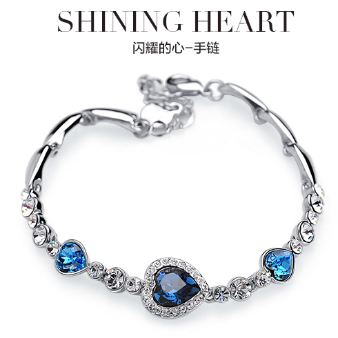 send swarovski crystal bracelet to shenzhen