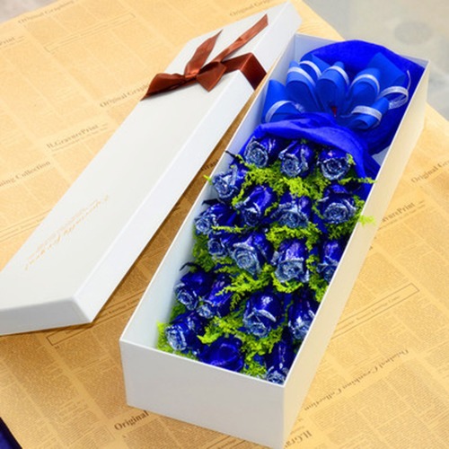 send 19 blue roses to