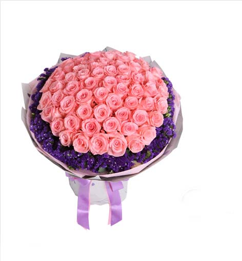 send 66 Pink roses to china