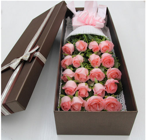 send 20 pink roses to