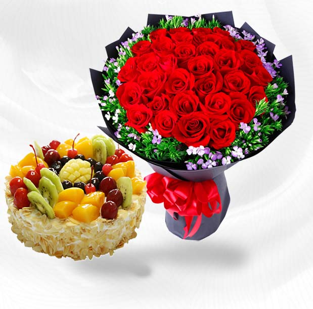send flower+cake to nanning