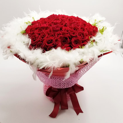 send 99 red roses to china