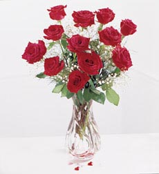 send Red Rose In Vase to