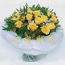 send 24 yellow roses to