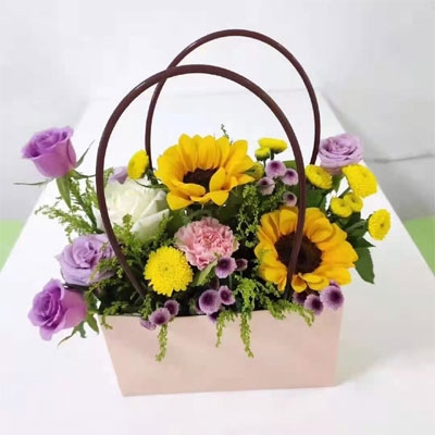 send flower basket city to china