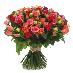 send mix roses to