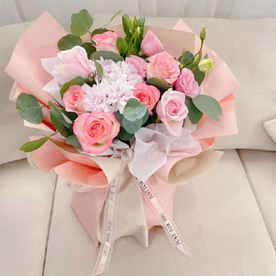 send 10 pink roses  to china