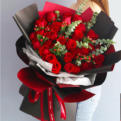 send 33 red roses china to beijing