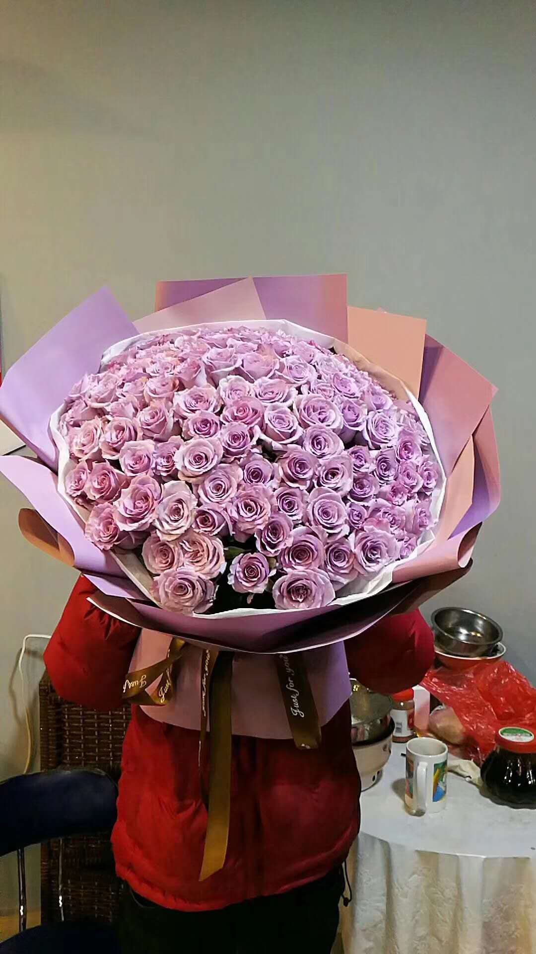 send 66 purple roses to china